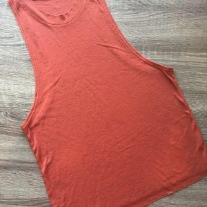 Alo yoga rust color muscle tank